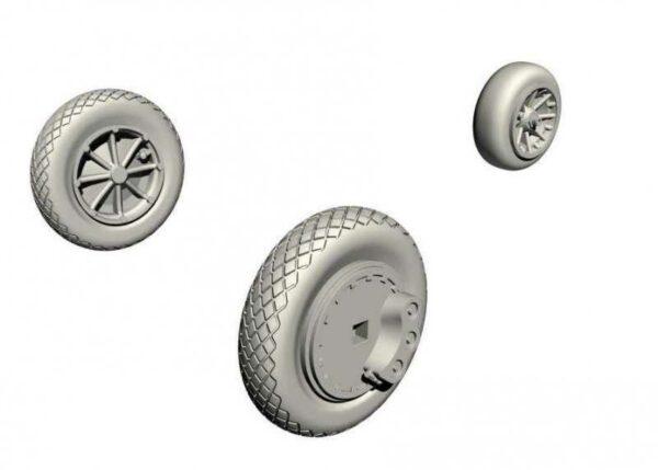 FH-1 Phantom - Main wheels and nose wheel [Special Hobby]