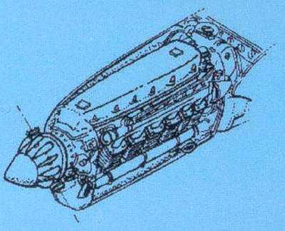 Focke-Wulf Fw 189 A - Motor Set