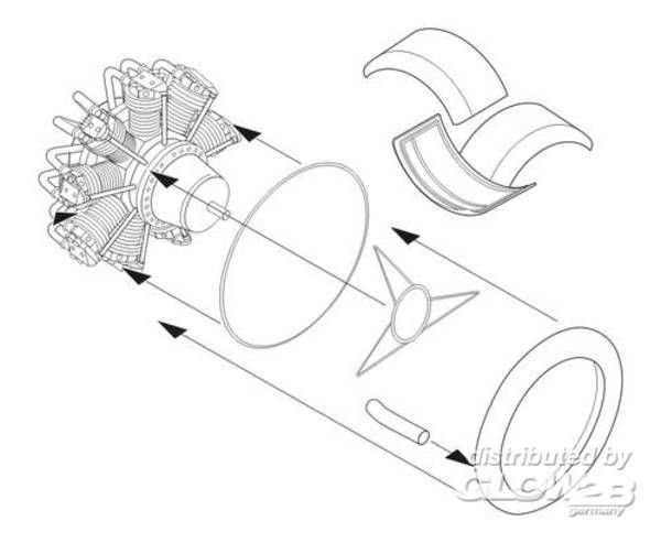 Fairey Swordfish - Engine set