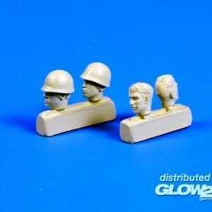 US WWII soldiers head (4 Stück)