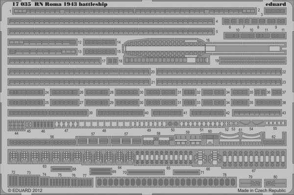 RN Roma 1943 battleship [Trumpeter]