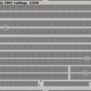 HMS Dreadnought 1907 railings [Trumpeter]