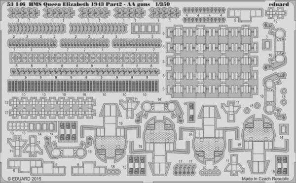 HMS Queen Elizabeth 1943 - Part 2 - AA guns [Trumpeter]