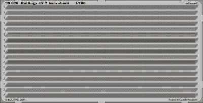 Railings 45 2 bars short