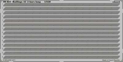 Railings 45 2 bars long