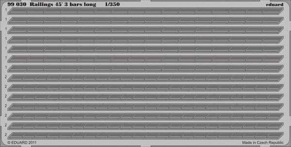 Railings 45 3 bars long