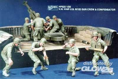 V.N. War U.S. M102 Gun Crew & Compensat.