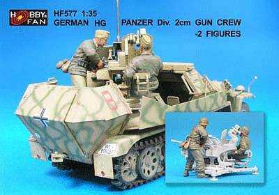 German HG Panzer Div.2cm Gun Crew- 2 Fig