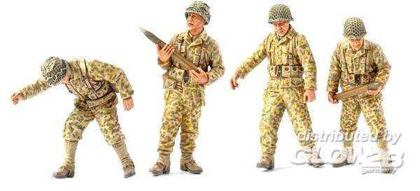 US Army gun crew France 1944 (4 fig.)