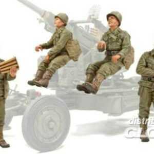 WW II Bofors Gun Crew (I)-4 Figures