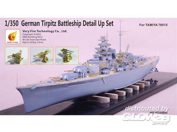 German Tripitz Battleship Detail Up Set [Tamiya]