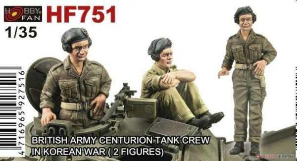 British Army Centurion Tank Crew in Korean War - 2 Figuren