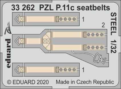 PZL P.11c - Seatbelts STEEL [IBG]