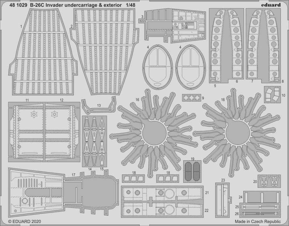 B-26C Invader – Undercarriage & exterior [ICM]