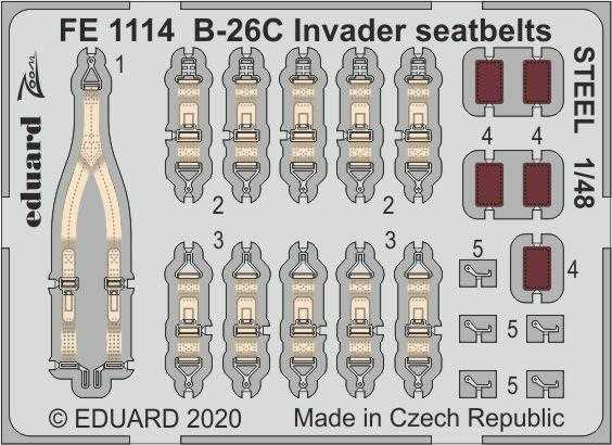 B-26C Invader - Seatbelts STEEL [ICM]