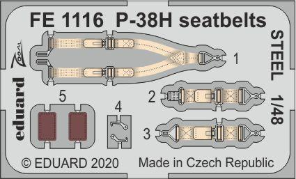 P-38H - Seatbelts STEEL [Tamiya]