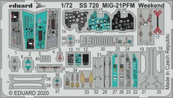 MiG-21PFM Weekend [Eduard]