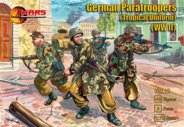 WWII German paratroopers (Tropical uniform)