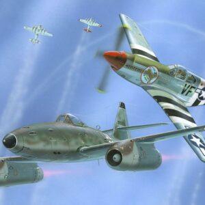 Model Set - Combat Set Messerschmitt Me 262 & P-51B Mustang