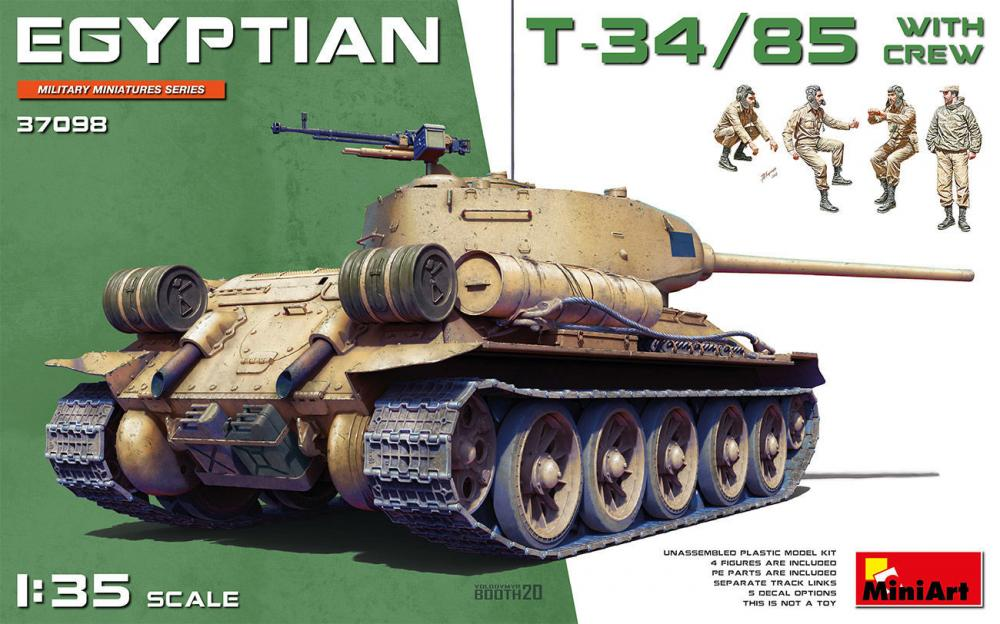 Egyptian T-34/85 w/crew