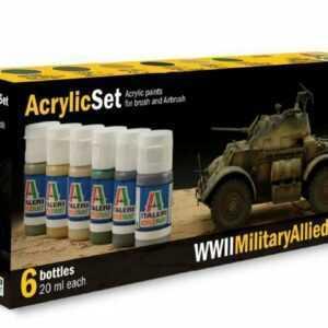Acryl Set WWII Military Allied Army