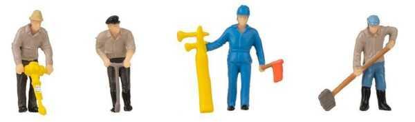 Gleisbauarbeiter & Tremolo - Figuren-Set mit Mini-Sound-Effekt