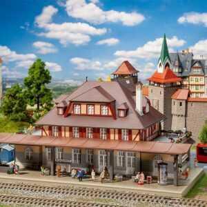 Bahnhof Burgschwabach - Monatsmodell Januar