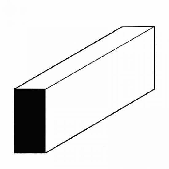 Vierkantprofile, 350×0,50×0,75mm, 10 Stück