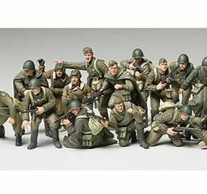 WWII Russian Infantry & Tank Crew Set