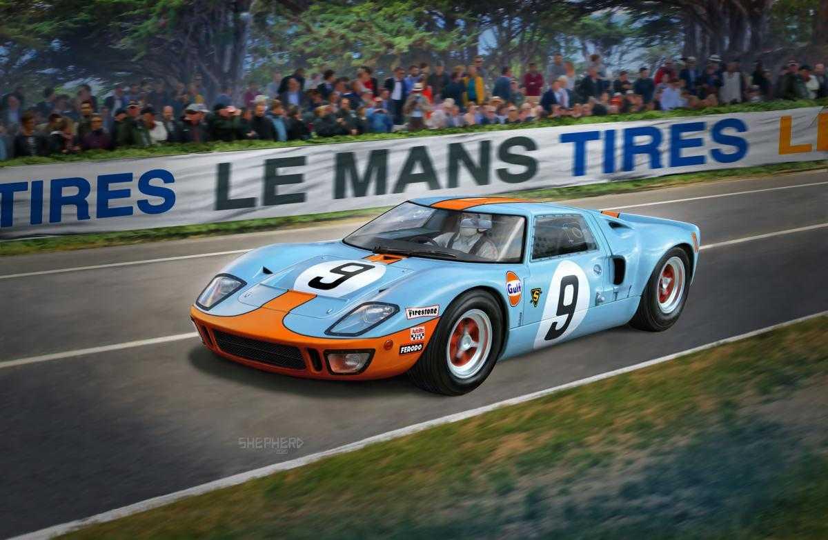 Ford GT 40 Le Mans 1968 – Platinum Edition