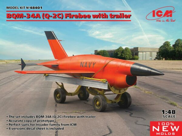 BQM-34A (Q-2C) Firebee with trailer (1 airplane and trailer)