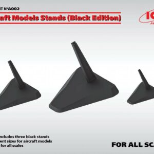 Aircraft Models Stands (Black Edition)(for 1:144