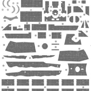 Zimmerit Decal - German Medium Tank Sd.Kfz.171 Panther Ausf.A Early Production