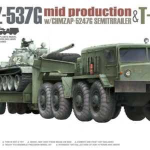 MAZ-537G w/ChMZAP-5247G - Semi-trailer mid production & T-54B