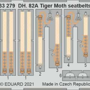 DH. 82A Tiger Moth - Seatbelts STEEL [ICM]
