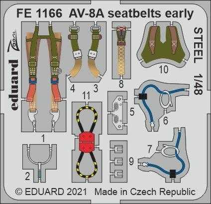 AV-8A Harrier - Seatbelts early STEEL [Kinetic Models]