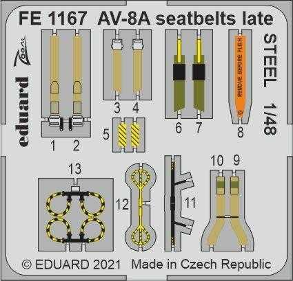 AV-8A Harrier - Seatbelts late STEEL [Kinetic Models]