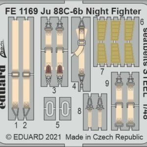 Junkers Ju 88 C-6b Night Fighter - Seatbelts STEEL [ICM]