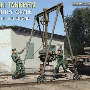 German Tankmen with Gantry Crane & Maybach HL 120 Engine