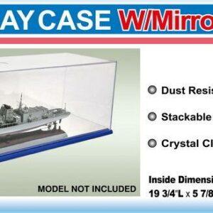 Display Case w/Mirror Base 501x149x146mm WxLxH