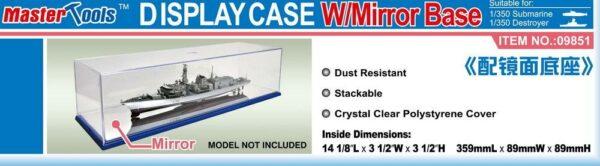 Display Case w/Mirror Base 359x89x89mm WxLxH