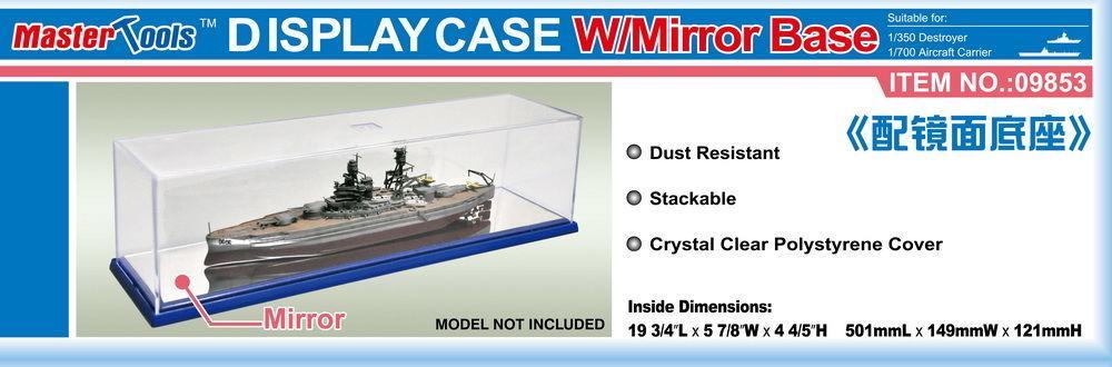 Display Case w/Mirror Base 501x149x121mm WxLxH